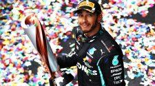 Lewis Hamilton wearing a costume