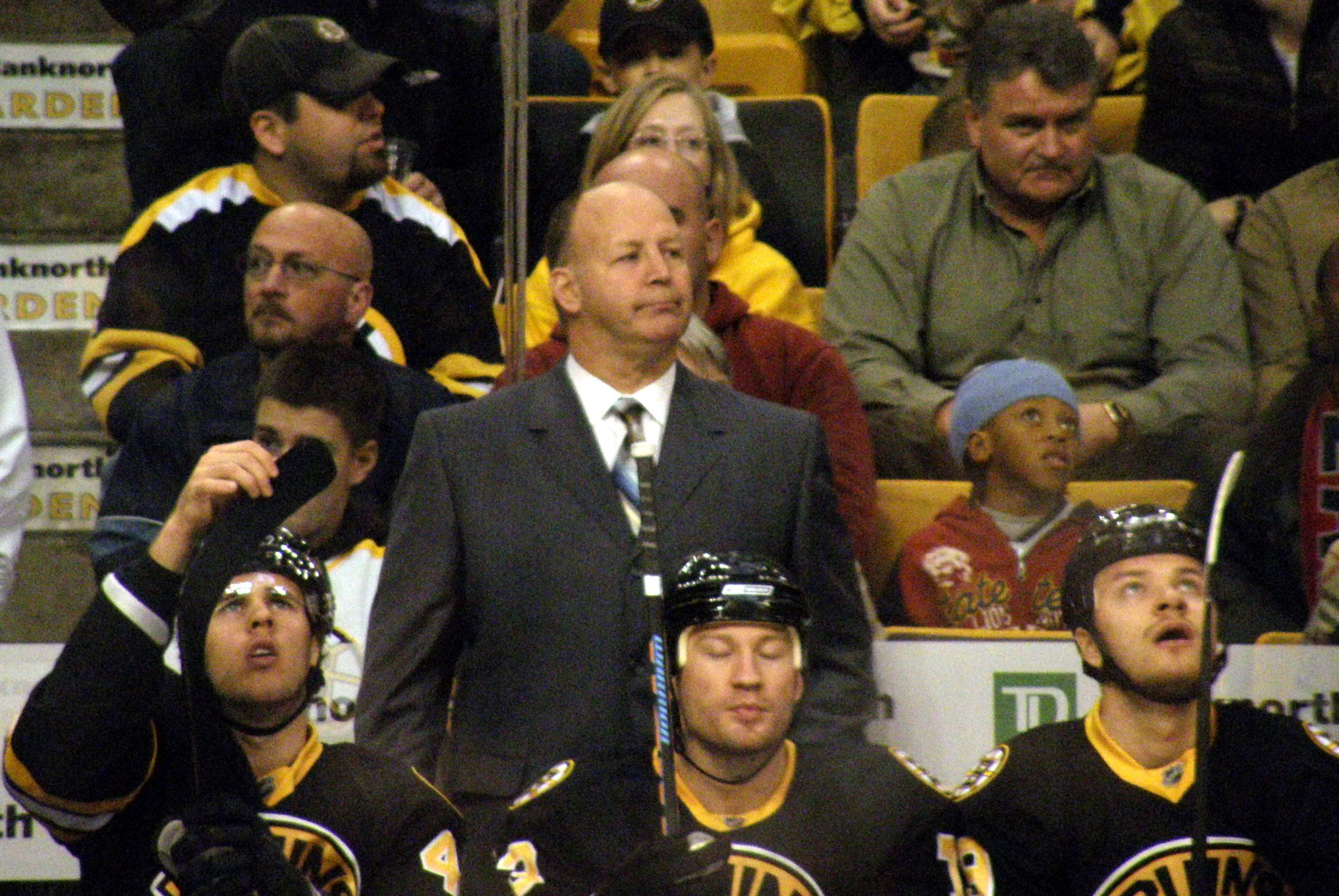 Claude Julien, Michael Ryder posing for the camera