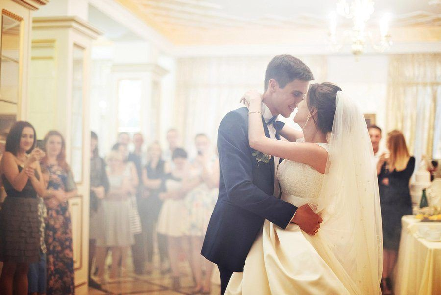 Groom and Bride Dancing